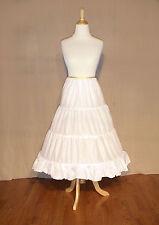 NEW SCA Wedding-Civil War-Victorian Edwardian Cotton 3 HoopSkirt Girl/Teen/Adult