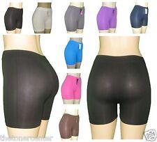 Women's Natural Curves Nylon Spandex Bike Leggin Shorts Gym Pilate Jogging Pants