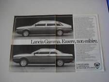advertising Pubblicità 1982 LANCIA GAMMA BERLINA/COUPE'