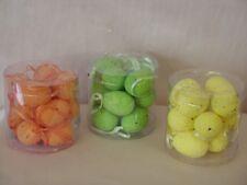 12 kleine Ostereier mit Aufhänger, verschiedene Farben, 4cm, neu