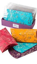 Luxury Handmade sacchetto carta regalo ORO FIORE IN CARTA BATIK commercio equo