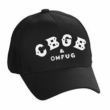 Officially Licensed CBGB & OMFUG Logo FlexFit Adjustable Size Snapback Cap