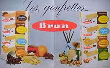 PUBLICITÉ BRUN GAUFRETTE EN TABLETTES PUR NOISETTE AU CAFÉ A LA VANILLE CHOCOLAT