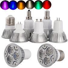 8 Colors Dimmable E12 GU10 MR16 GU5.3 E27 3W LED Spotlight Bulb White Light Lamp