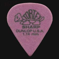 Dunlop Tortex Sharp Guitar Picks Plectrums 1.14mm Purple - 6 10 12 20 24 or 36