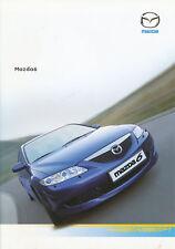 Mazda 6 Prospekt 2.4.04 brochure 2004 Auto Autoprospekt PKWs Japan Asien Werbung