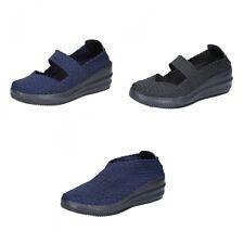 CRISTIN scarpe donna ballerine slip on blu nero in tessuto