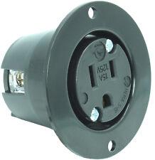 Journeyman-Pro 5279 15 Amp 125 Volt, NEMA 5-15P Flanged Power Outlet Receptacle