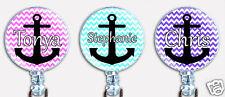 Personalized Custom Anchor Chevron Cross Badge Reel Retractable Name Card Holder