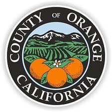 1x STICKER Orange county seal California bumper decal