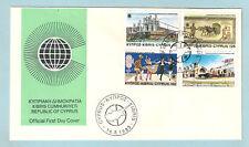 1983 CYPRUS DIONYSUS DISCOVERY WINE MOSAIC CINEMA TV FESTIVAL DANCE COSTUME FDC