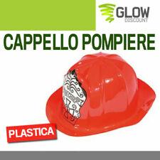 CAPPELLO POMPIERE accessori carnevale costumi feste  maschera elmetto elmo 33573