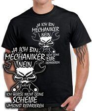 JA ICH BIN MECHANIKER NICHT UMSONST Schrauber KFZ Kleidung Spruch FUN T-Shirt