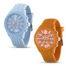 Reloj de Hombre SECTOR STEELTOUCH Multifunción Silicona Naranja Azul Claro