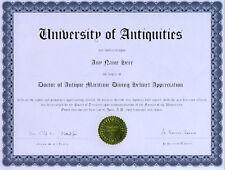 Doctor Antique Maritime Diving Helmet Novelty Diploma