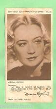 "1930s LUX TOILET SOAP ""FAMOUS FILM STARS"" ACTRESS CARD #20  MIRIAM HOPKINS"