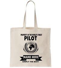 Piloto Personalizado Bolso Shopper gracias modificar compañía aérea piloto de regalo de cumpleaños