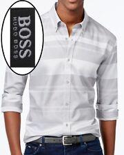 NWT Hugo Boss Black Label By Hugo Boss Slim Fit Striped Sport Shirt