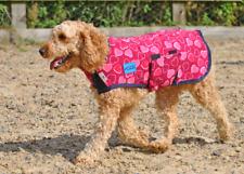 6 Tamaños Perro abrigo de lana Maxima-Rosa Corazones