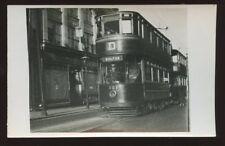 Lancs BOLTON Tram 121 1931 RP PPC close up