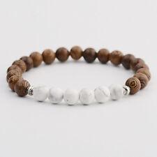Men's Healing Natrual Stone Sandalwood Gemstone Round Beads Reiki Yoga Bracelets