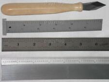 Igaging ruler, rule: hook, bevel, precision premium straight edge, marking knife