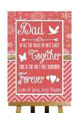 RED WINTER messaggio di Natale per papà padre della sposa personalizzato matrimonio segno