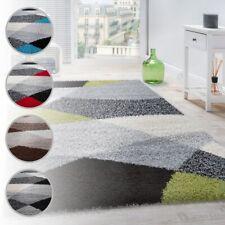 Tappeto Shaggy A Pelo Alto A Pelo Lungo Decorato Nei Colori: Grigio Nero Bianco