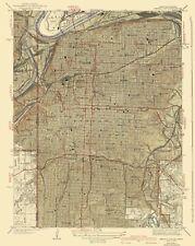 Topographical Map - Kansas City Missouri, Kansas Quad - USGS 1940 - 23 28.9