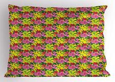 Tropical Hibiscus Pillow Sham Decorative Pillowcase 3 Sizes Bedroom Decoration
