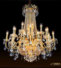 Yc. European Crystal Chandelier LED villa restaurant living room ceiling light