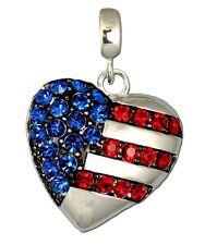 I Love the USA Heart Neckslide