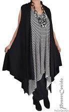 LAGENLOOK Shirt Jacke Weste Mantel schwarz 44 46 48 50 52 54 56 58 L-XL-XXL-XXXL