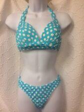 Venus 2 pc bikini - size 4 scoop front bottom & size B dottie halter top NWT