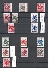 Serbien 1941, Einzelmarken aus MiNr. 54 - 57 Typen I - A IV**, postfrisch **