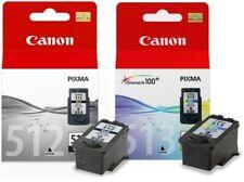 Canon 512 & Canon 513 Black & Colour Original Canon Ink Cartridges PG512 & CL513