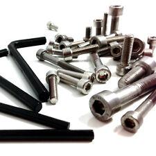 M5 (5mm) in acciaio inox a2 Presa Tappo Viti + GRATIS Allen Key-BOLT BICI