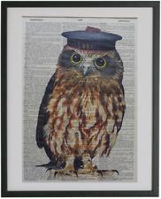 Owl Print No.624, dictionary art, bird posters