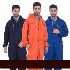 Men Women Coveralls Overalls Workwear Mechanic Jumpsuit Protective Worksuit hood