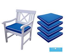 MEMORY Foam Cuscino Da Giardino Sedia Pad | quantità di 1, 2, 3 e 4 | 50x45 | Royal Blue