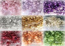 Perlenband Perlenkette Deko Perlen Tischdeko Perlengirlande Hochzeit Farbwahl