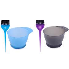 2x Salon Hair Tint Bleach Coloring Dye Bowl Brush Mixing DIY Hairdresser Tools