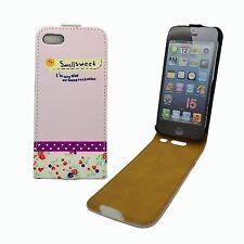 MULTI COLOR CASE SMALL SWEET DESIGN FLIP PU LEATHER APPLE IPHONE 5/5S