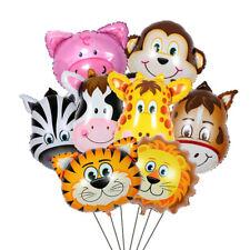 Animal Head Tiger Lion Monkey Giraffe Cow Foil Balloon Kids Inflatable Toys