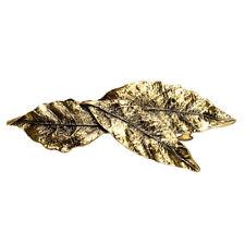 Vintage Feuille Forme Barrette Antique Silver Bronze Pince à Cheveux Bijoux