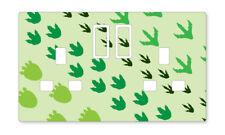 Pies de dinosaurio enchufe de Reino Unido Pegatinas Niños Dormitorio Sala de Estar Decoración Vivero