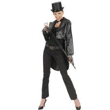 Damenfrack Satin schwarz, Frack Damen Frauenfrack Kabarett Showgirl Outfit Revue