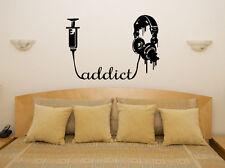 MUSICA Addict - Cuffie MELODIE STUDIO ARTE Adesivo Decalcomania FOTO POSTER