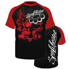 T-Shirt Spass kostet Death Head Premium Marke Label Schädel Totenkopf Schlagring