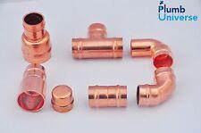 15mm Saldato Anello raccordi dritti, gomito, T, stop fine, Riduttore in ottone raccordi